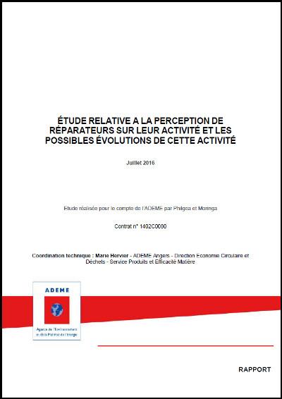 Rapport ADEME perception réparateurs
