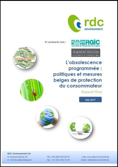 Rapport belge sur l'obsolescence programmée